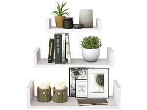 Floating Shelves Wall Mounted, Solid Wood Wall Shelves, White