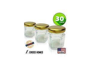 Jars Gold Lid 30pcs 15 oz Glass Jars with 30pcs Gold Plastisol Lined Lids for Jam Honey Jelly Wedding Favors Baby Shower Favors Baby Food DIY Magnetic Spice Jars Crafts Canning Jars