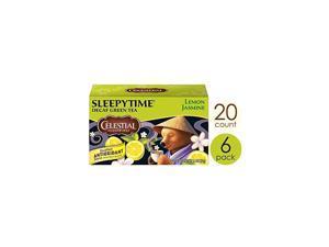 Green Tea, Sleepytime Decaf Lemon Jasmine, 20 Count (Pack of 6)