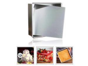 Aluminum Square Cheesecake Pan Chiffon Cake Mold Baking Mould with Removable Bottom 5 Inch x 5 inch x 2 inch