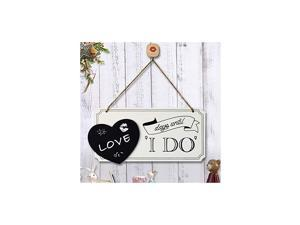 """Wedding Signs Days Until I Do Wall Plaque 9.72"""" x 4.72"""" Rustic Wood Hanging Wall Sign for Wedding/Home Wall Decor, Wedding Gift"""