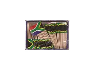Box of 100 Country Toothpick Flags, 100 Small Mini International Flag Cupcake Toothpicks or Cocktail Picks (South Africa)