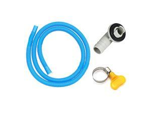 3/5'' Conditioner Drain Hose Connector Elbow Fitting with 5.2ft A/C Water Drain Hose Kit, Replacement Parts for Mini-Split Units and Window AC Unit