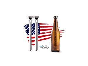 Stainless Steel Beer Bottle Chiller Cooling Sticks (Set of 2)