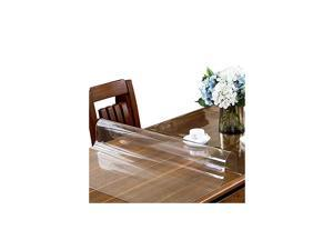 44 x 72 Inch Clear Table Cover Protector, 1.5mm Thick Plastic Tablecloth, Table Desk Pad Mat, Waterproof Vinyl PVC Table Top Protector for Coffee Table, Writing Computer Desk, Dining Table