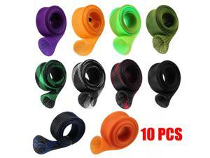 10Pcs 67'' Fishing Spinning Rod Sock Covers Braided Mesh Rod Protector Sleeve US