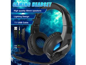 3.5mm Gaming Headset Mic LED USB Headphone 7.1 Stereo Surround for PS5 Xbox PC