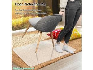 "Rectangle PVC Home Office Chair Floor Mat Studded Back for Pile Carpet 36"" x 48"""
