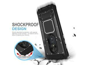 For  Moto G7 Optimo / G7 Play Phone Case Metal Magnetic Support Cover