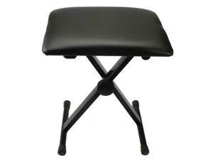 Piano Bench Adjustable Piano Keyboard Chair Padded Seat Rubber Feet Steel Stoo