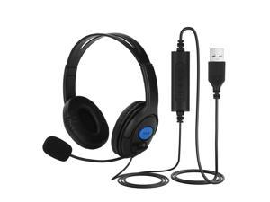 USB Headset Noise Cancelling Computer Headset with Microphone for PC Chat Call