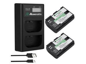 LP-E6 LP-E6N Battery / LCD Charger For  EOS 5D Mark II/III/IV EOS 6D 7D 60D