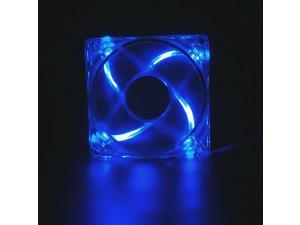 120mm 4LEDs Light Neon Quite Clear PC Gaming case Bearing Fan Cooling Cooler