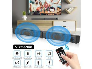 Wireless Bluetooth Speaker Sound Bar Home Theater TV Stereo Detachable Subwoofer