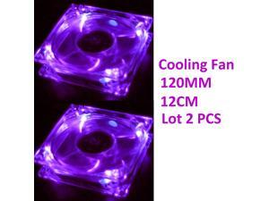 Lot-2 120mm 4LEDs Light Neon Quite Clear PC Gaming case Bearing Fan Air Cooling