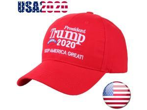 US Donald Trump Hat 2020 Keep America Great Again Cap Embroidered Baseball NEW