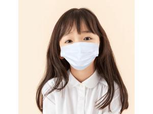 100 PCS Kids mask Disposable Face Mask 3 Layers Anti Dust Infection Bacteria Protective Mask Breathable With Ear Loops for 3 to 12 years old Children (White)