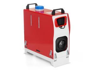 All In One 12V 8KW Diesel Air Heater Car Parking Heater with LCD Thermostat Remote Control Red