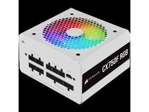 CX750F RGB White CORSAIR CX Series CX750F RGB White— 750 Watt 80 Plus Bronze Certified Fully Modular RGB PSU, White PSU