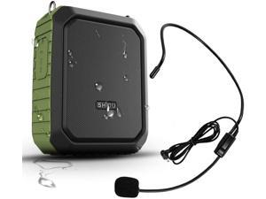 New SHIDU Portable Personal Waterproof Voice Amplifier Wired Headset Microphone Small Bluetooth Pa Speaker 18W 4400mAh Rechargeable Wearable Mic System for Teachers or Outdoors