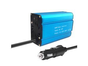 Car Power Inverter Solar Power Inverter 500W DC 12V to AC 110V Modified Sine Wave Converter with Dual USB Interface