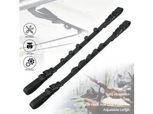 2PCS SUV/MVP/RV Vehicle-Mounted Fishing Rod Rack Fishing Rod Support Vehicle-Mounted Fixed Fishing Rod Strap