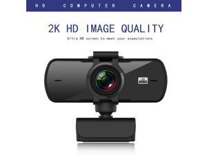 HD 1440P 2K Webcam Mini Computer PC WebCamera With Microphone Rotatable Fixed Focus Cameras For Live Broadcast Video Calling