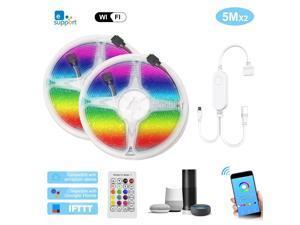 WIFI LED Strip Lights Kit 10m/32.8ft Length RGB Smart Light Strip Ewelink APP Remote Control Dimmable Changing