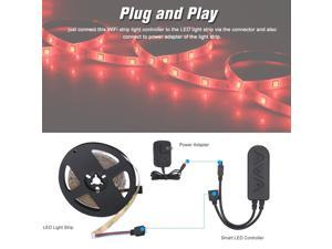 BT LED Strip Lights Kit 10m/32.8ft Length 5050 RGB IR BT music Controller Changing Color 12V Power Supply