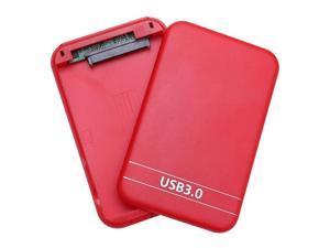 2.5Inch USB3.0 SATA Hard Drive Box SSD External Enclosure Box with USB Cable (Black)