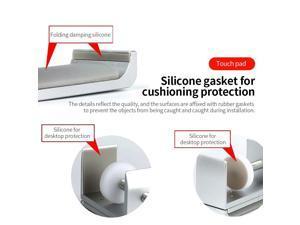 Universal Aluminium Alloy Headphone Holder Bracket Hanger Metal Wall Clamp Hook Foldable Earphone Stand