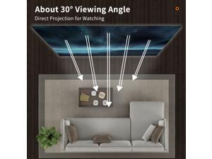 60 Inch Portable Metal Projector Screen Anti-Light Movie Screen 16:9 3D 4K 1080P HD Foldable Projection Screen
