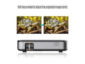Mini Projector DLP 1080P 60 ANSI Lumens USB HD Image Input Wireless Pocket Projectors for Home Small Office