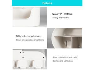 Automatic Toothpaste Dispenser Toothbrush Holder Multifunctional No Drilling Wall-Mounted Space-Saving