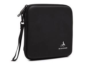 Portable Hard Carrying Travel Storage Case for External USB DVD CD Bluray RewriterWriter and Optical Drives Black