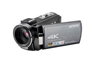 4K Video Camera Camcorder  HDRAE8 UHD 1080P 60FPS Digital WiFi Camera Camcorders IR Night Vision 30 IPS Touchscreen Vlogging Camera with 32GB SD Card and 2 Batteries