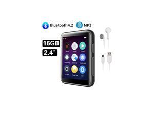 16GB MP3 Player Bluetooth with 24 inch Full Touch Screen HiFi Lossless Metal Music Player Bluetooth Builtin Speaker Support FM RadioVoice Recorder