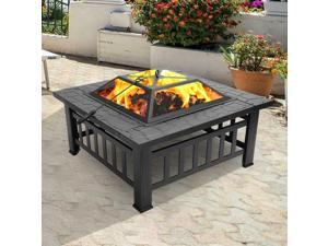 Wood Burning Fire Pit Outdoor Heater Backyard Po Deck Stove Fireplace bowl