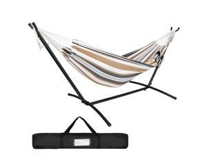 Portable Hammock with Stand for 2 person with Carrying case Outdoor Po Use