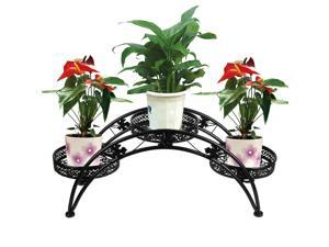 Wrought Iron Strong Metal Arch Pot Plant Stand Indoor Outdoor Garden Po Decor