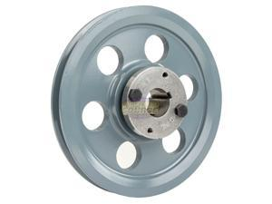 """Cast Iron 8.25"""" Single 1 Groove Belt A Section 4L Pulley with 1"""" Sheave Bushing"""
