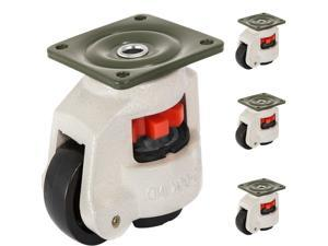 4Pcs Footmaster GD-60F Nylon Wheel and NBR Pad Leveling Caster 1100lbs