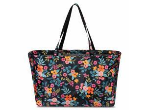 Women Marion Floral Print Large Utility Zip Handbag Tote Carry Bag
