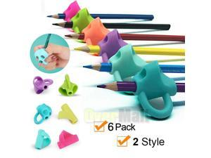 Pencil Grips Holder Silicone Ergonomic Pen Grippers Writing Aid For Kids Student