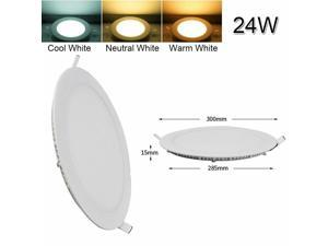 10 PCS 24W LED Recessed Ceiling Panel Down Lights Lamp Fixture Cool /Warm White