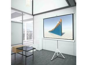 84 Inch 16:9 HD Projector Screen Tripod Stand Matte Pull Up Projection Screens