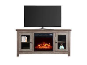 """51"""" 1400W Built-in Wood Cabinet Electric Fireplace Heater Timer  Remote Control"""