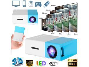 1080p Full HD LED Portable Projector Smart Home Theater Cinema VGA/HDMI/USB/SD