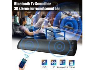 Bluetooth 5.0 Wireless Stereo Surround Soundbar Theater Speaker System For TV PC