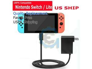 For  Switch / Lite Charger Chargering Cord AC Adapter Power Supply 2.4A